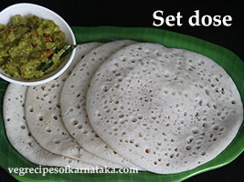 set dosa recipe