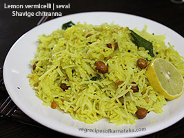 shavige chitranna or lemon sevai recipe