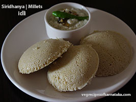 siridhanya or millets idli recipe
