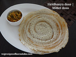 millets or siridhanya dose recipe