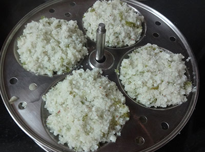 mixing batter for southekayi or cucumber idli