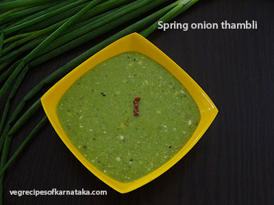 spring onion thambli recipe