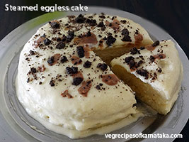 steamed eggless cake recipe