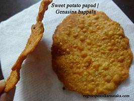 sweet potato papad recipe