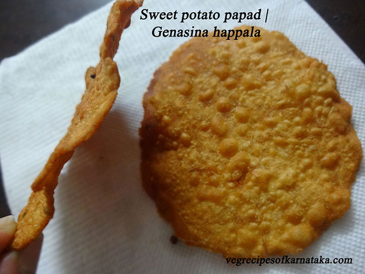 sweet potato papad