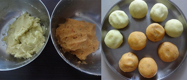 blend cooked sweet potato for papad