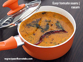 simple tomato saaru or rasam recipe