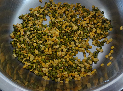 toor dal and green gram for upsaaru