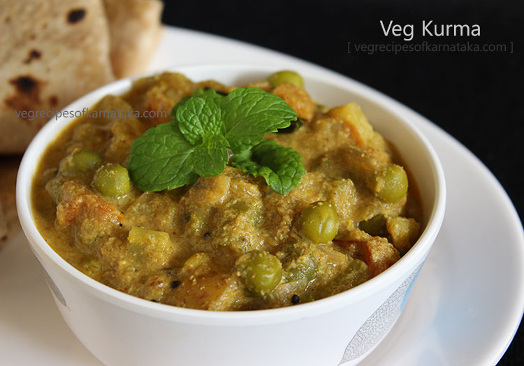 veg kurma or mixed vegetable kurma