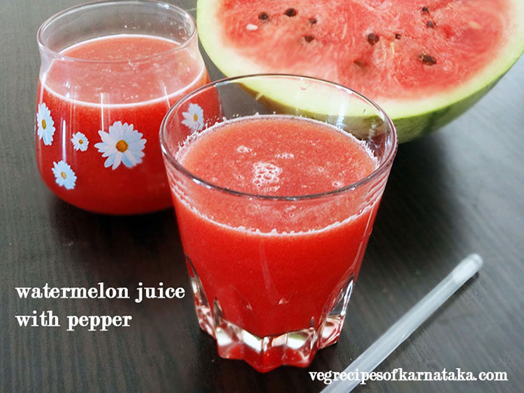 Water melon juice with pepper