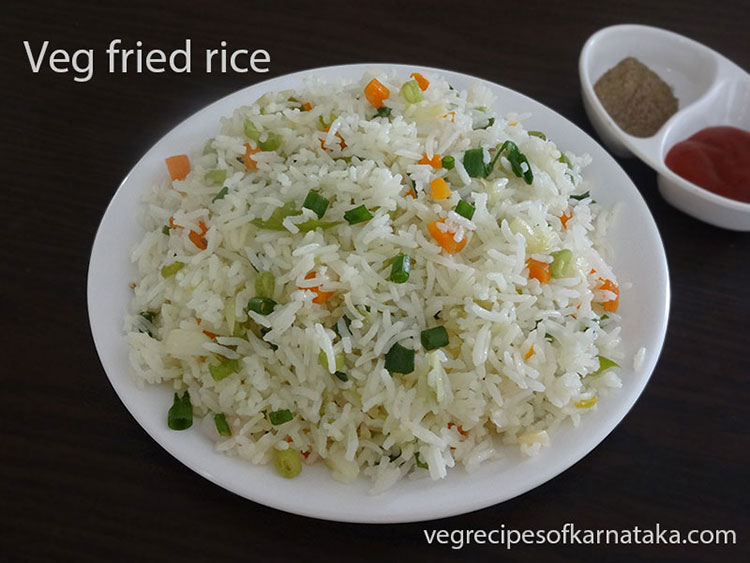 Veg fried rice recipe | How to make vegetable fried rice ...